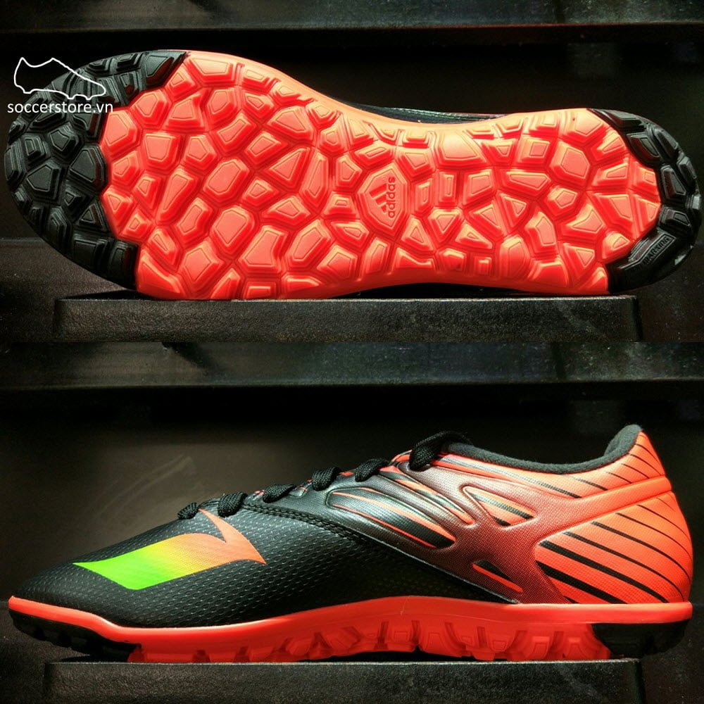 Adidas Messi 15.3 TF- Core Black/ Solar Green/ Solar Red AF4667