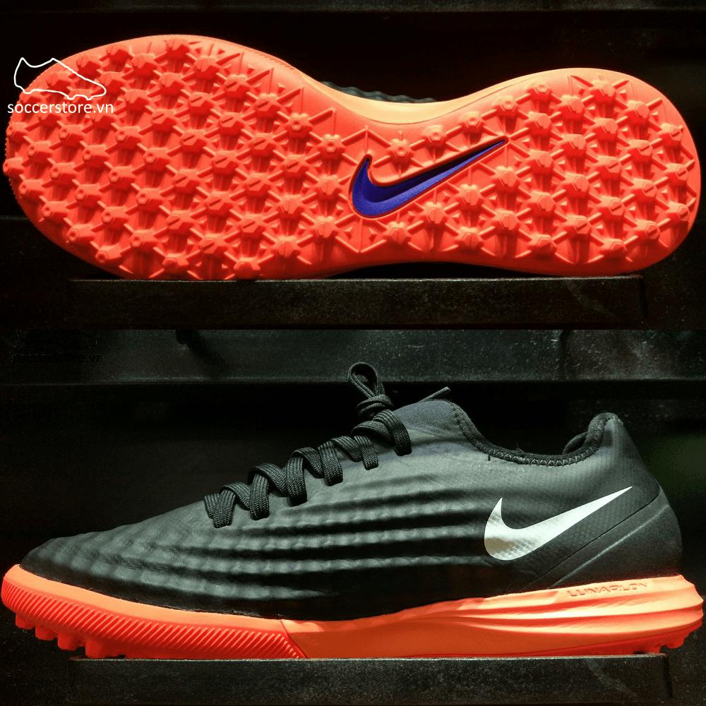 Nike MagistaX Finale II TF- Black/ White/ Hyper Orange 844446-019