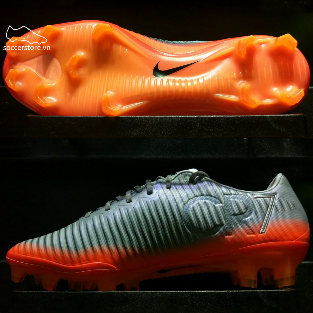Nike Mercurial Vapor CR7 FG- Cool Grey/ Metallic Hematite/ Wolf Grey 852514-001