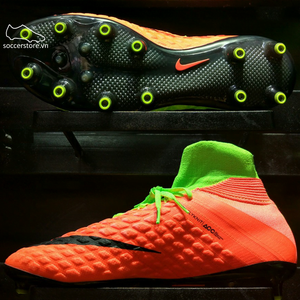 Nike Hypervenom Phantom III DF AG Pro- Electric Green/ Black/ Hyper Orange 860643-308
