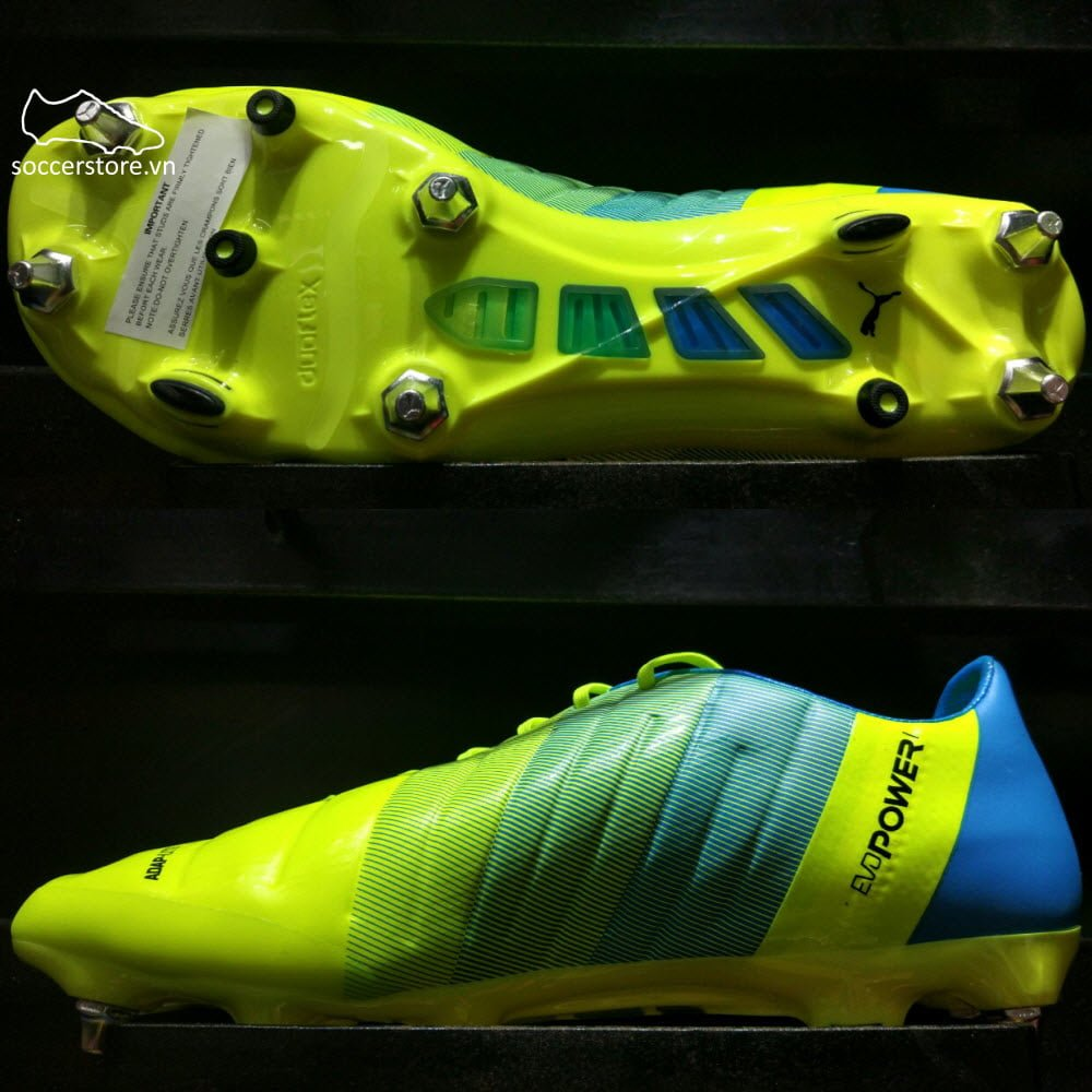 Puma evoPOWER 1.3 SG- Safety Yellow/ Black/ Atomic Blue 103525-01
