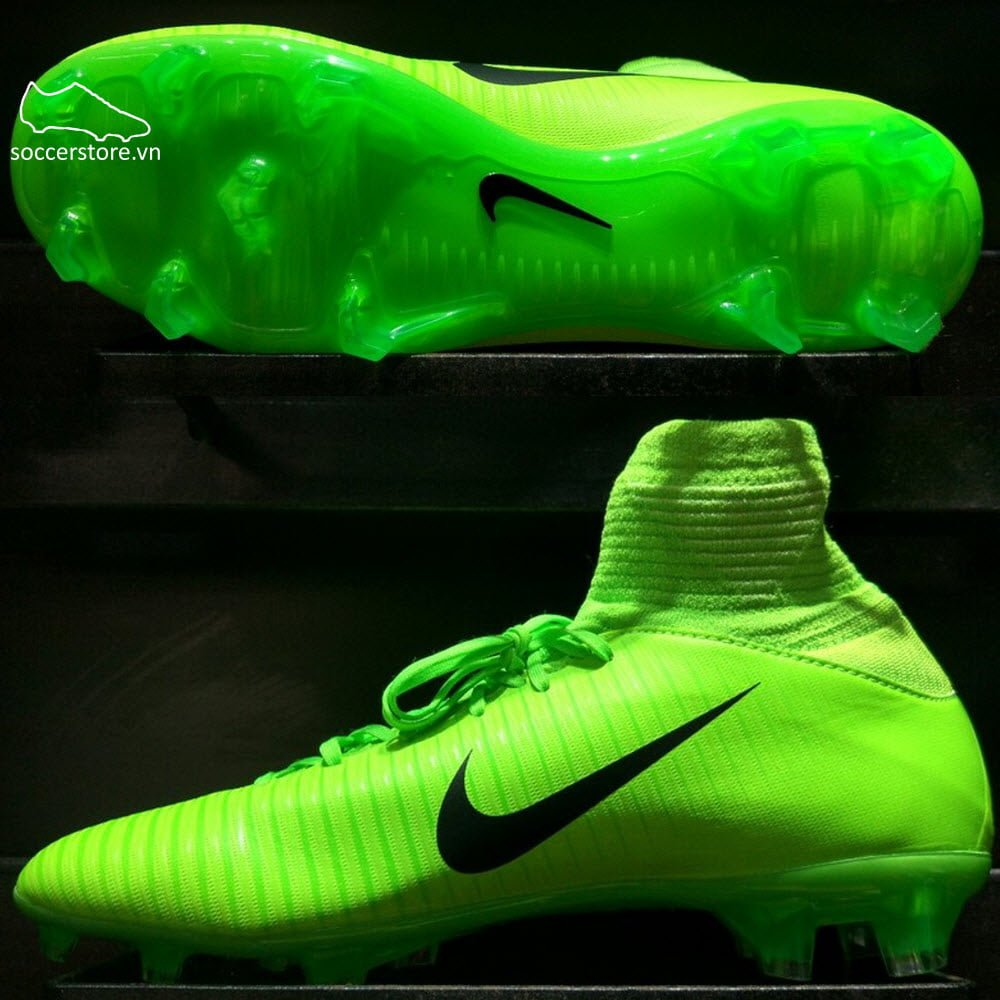 Nike Mercurial Superfly V FG Kids - Electric Green/ Black/ Flash Lime 831943-303