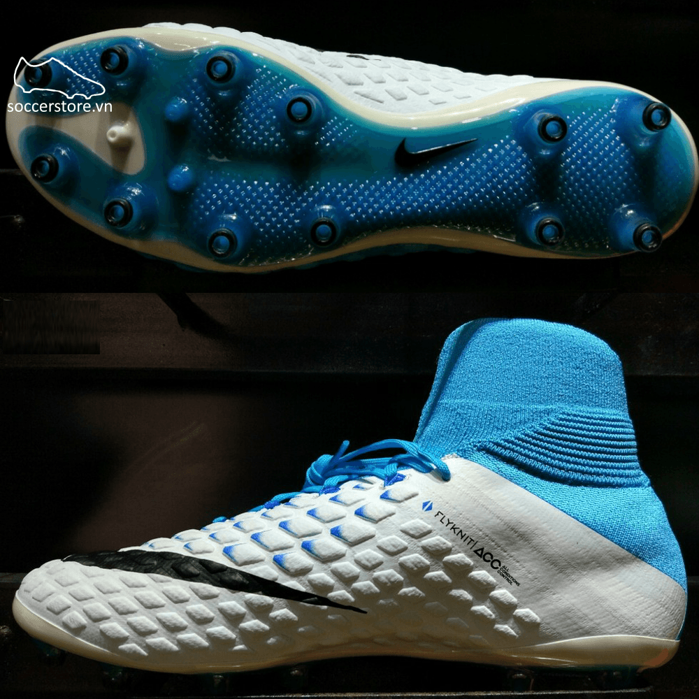 Nike Hypervenom Phantom III DF AG Pro- White/ Black/ Photo Blue 852550-104