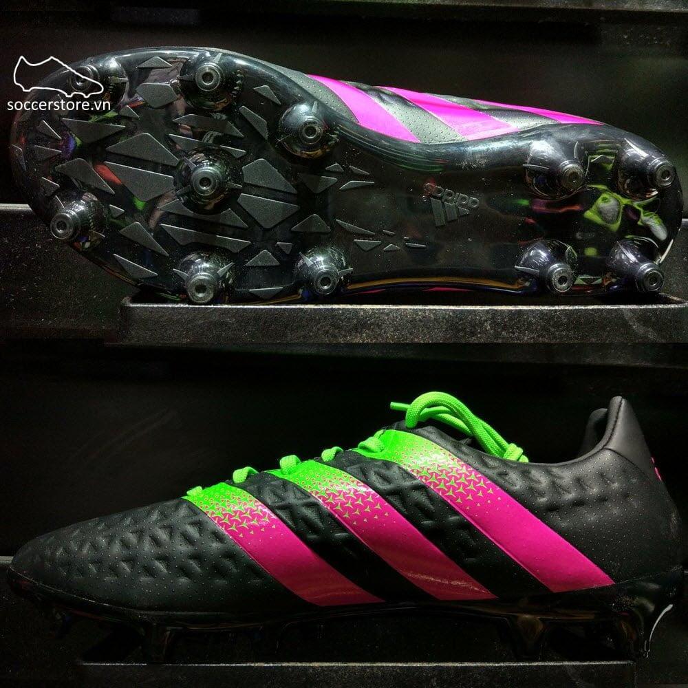 Adidas Ace 16.3 FG/AG- Core Black/ Solar Green/ Shock Pink AF5146