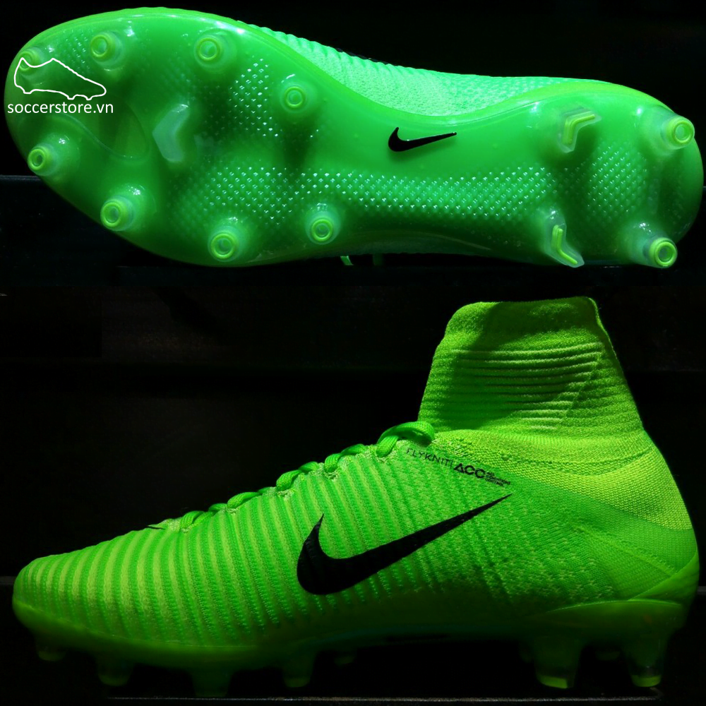 Nike Mercurial Superfly V AG Pro- Electric Green/ Black/ Flash Lime 831955-305