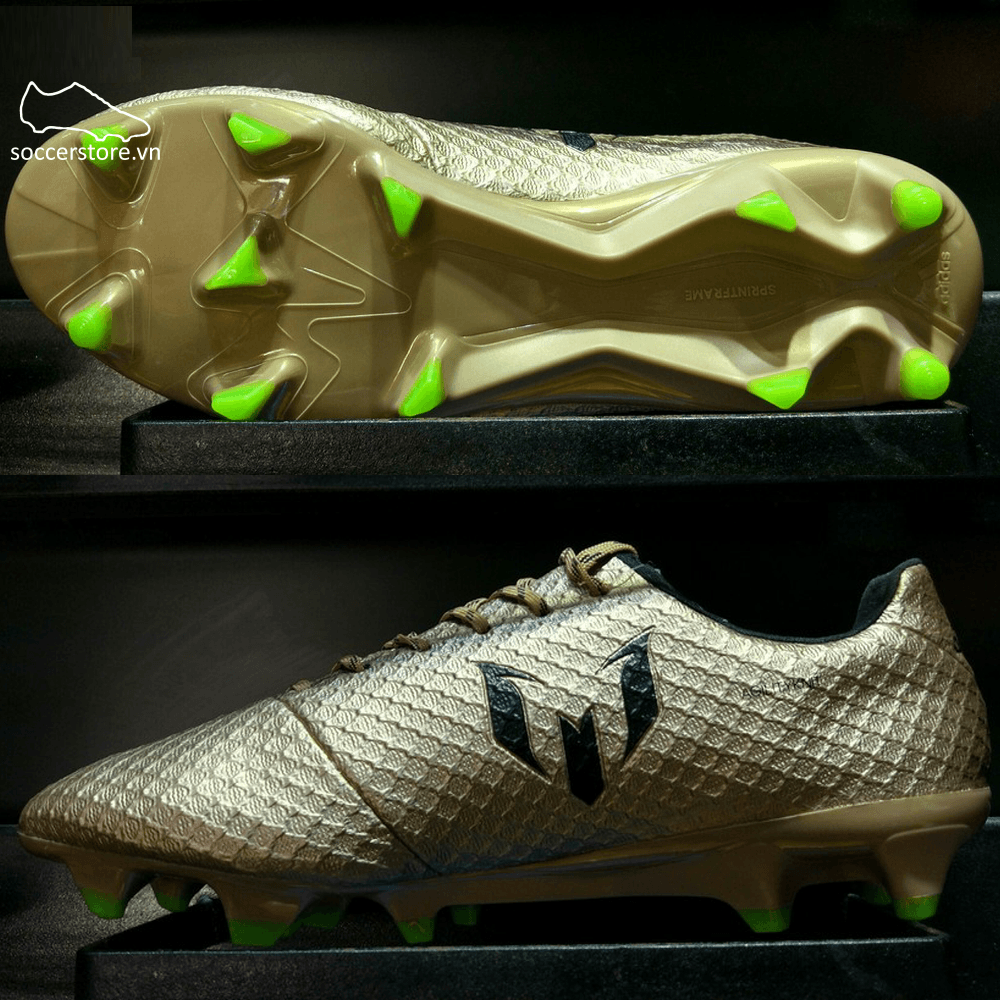 Adidas Messi 16.1 FG/AG- Copper Metallic/ Core Black/ Solar Green BA9109