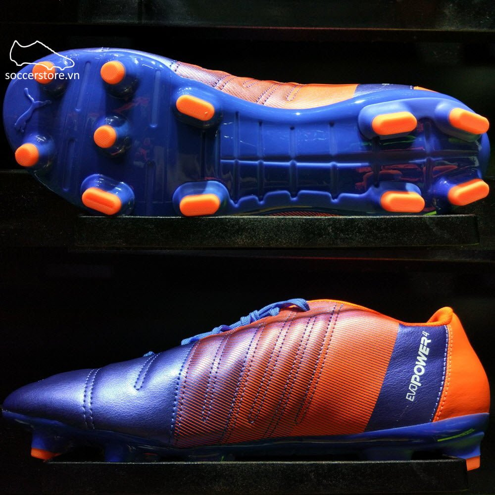 Puma evoPOWER 4.3 FG- Blue Yonder/ Puma White/ Shocking Orange 103563-03
