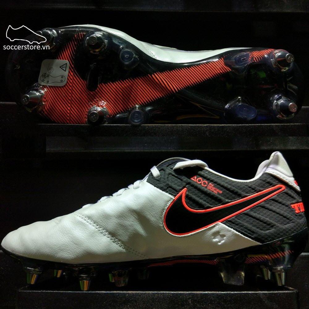 Nike Tiempo Legend VI SG Pro- Pure Platinum/ Black/ Hyper Orange 819680-001