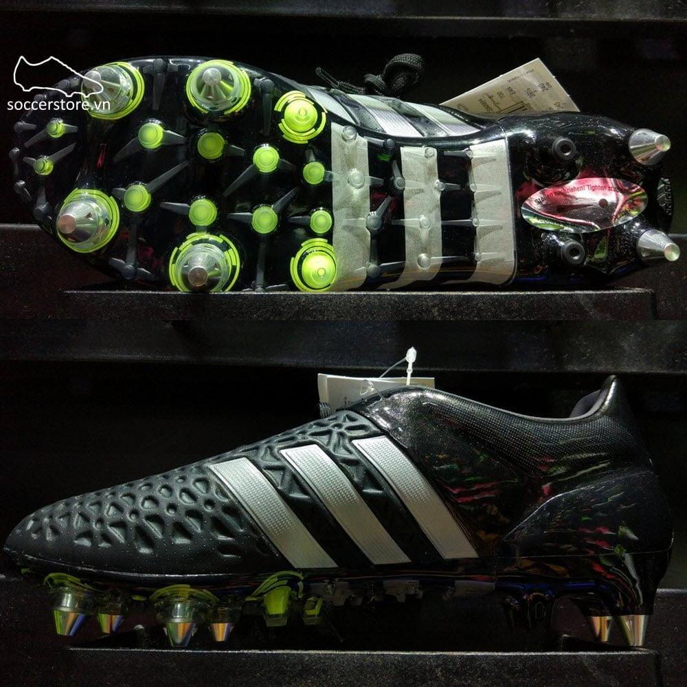 Adidas Ace 15.1 SG- Core Black/ Silver Metallic/ Solar Yellow S82994