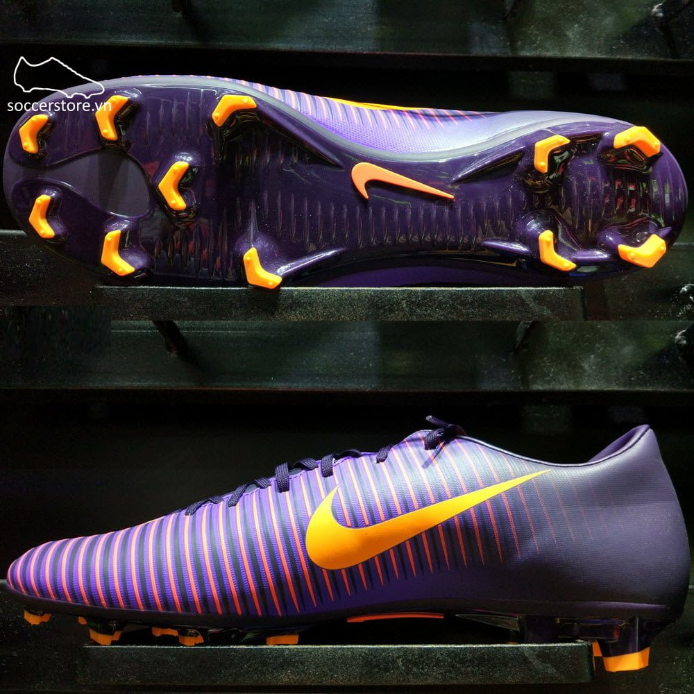 Nike Mercurial Victory VI FG- Purple Dynasty/ Bright Citrus/ Hyper Grape 831964-585