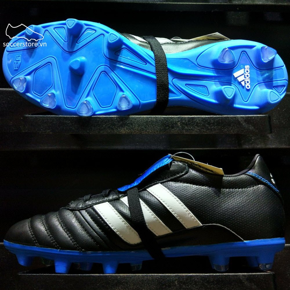 Adidas Gloro 15.1 FG- Core Black/ White/ Solar Blue B36019