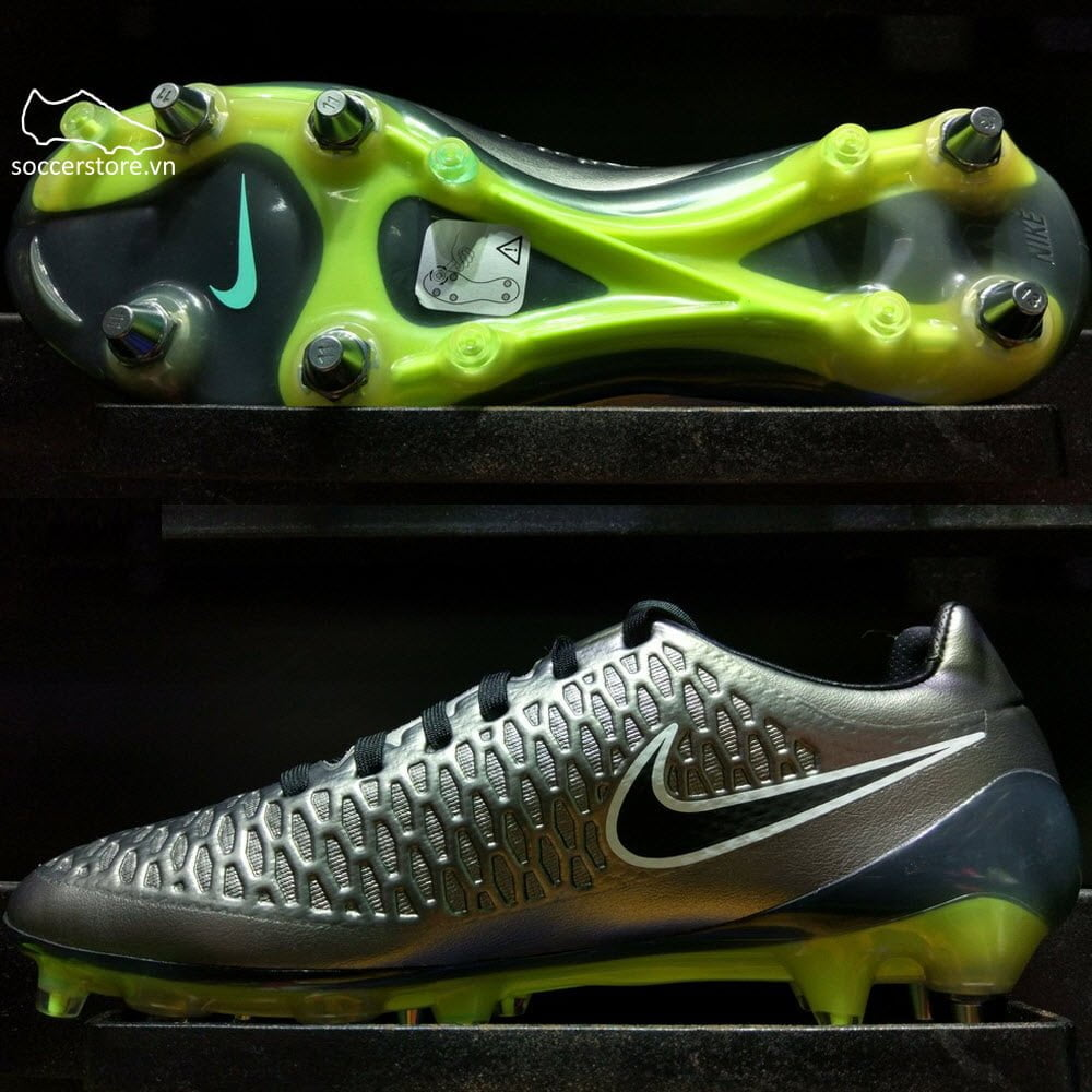 Nike Magista Opus SG Pro- Metallic Pewter/ Black/ White 649233-011