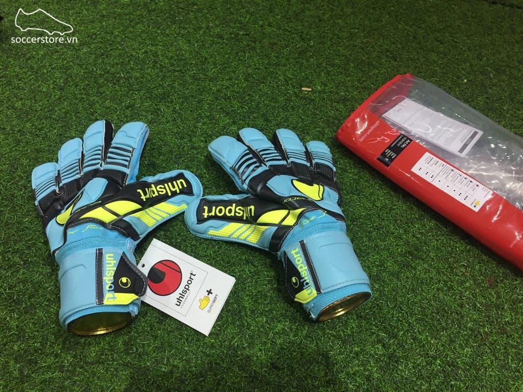 Uhlsport Eliminator Supersoft- Ice Blue/ Black/ Fluorescent Yellow