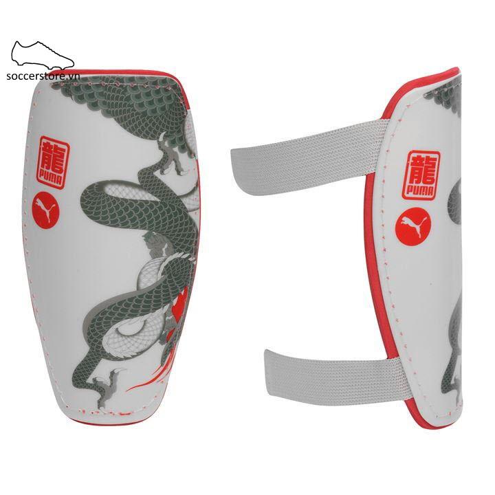 Lót ống đồng Puma Evo8 Shinpad- White/ Pattern