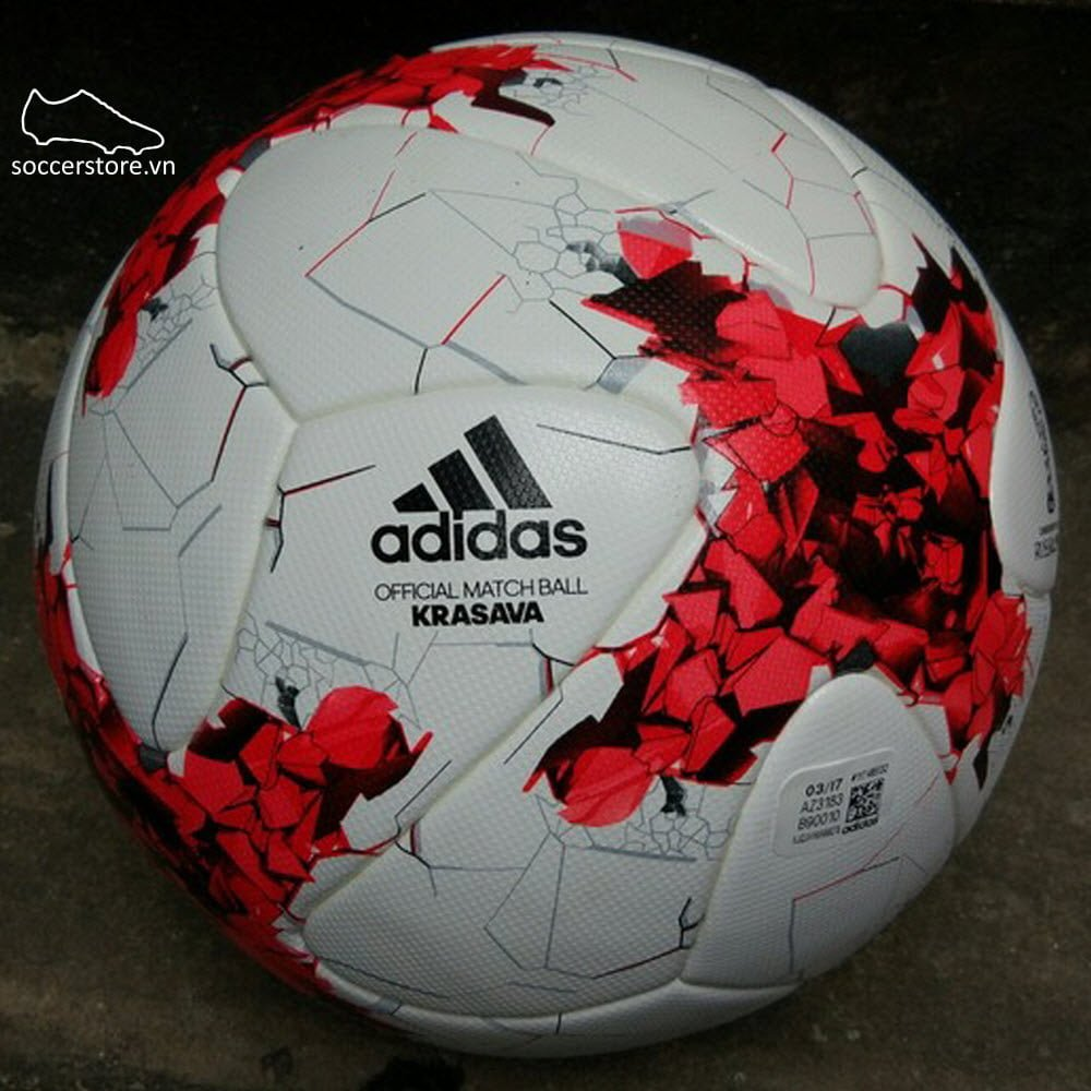 Bóng Adidas Confederation Cup Official Matchball- White/ Red/ Clear Grey AZ3183