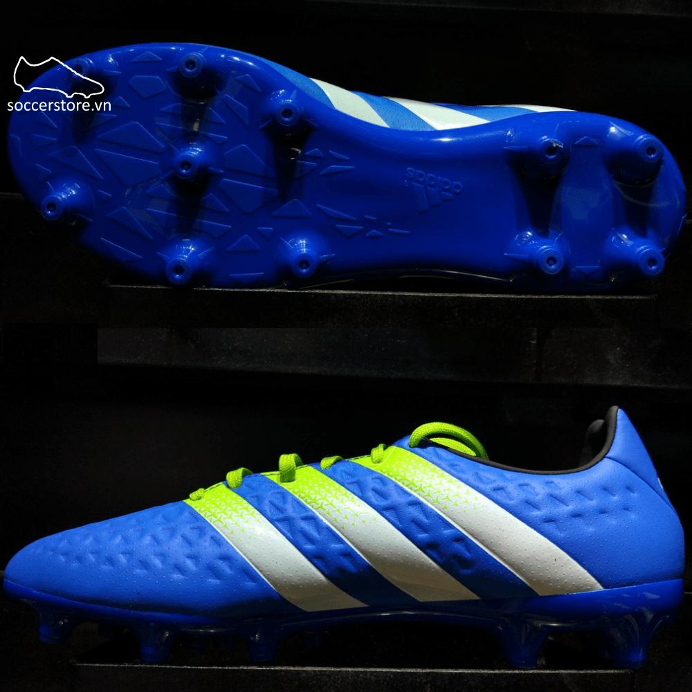 Adidas Ace 16.3 FG/AG- Shock Blue/ Semi Solar Slime/ White AF5148