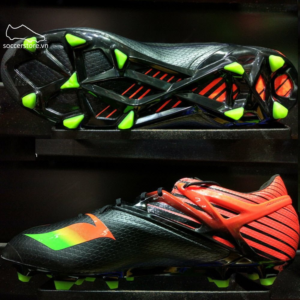 Adidas Messi 15.1 FG/AG- Core Black/ Solar Green/ Solar Red AF4654