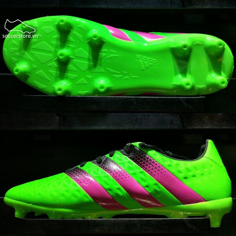 Adidas Ace 16.3 FG/AG- Solar Green/ Shock Pink/ Core Black AF5145