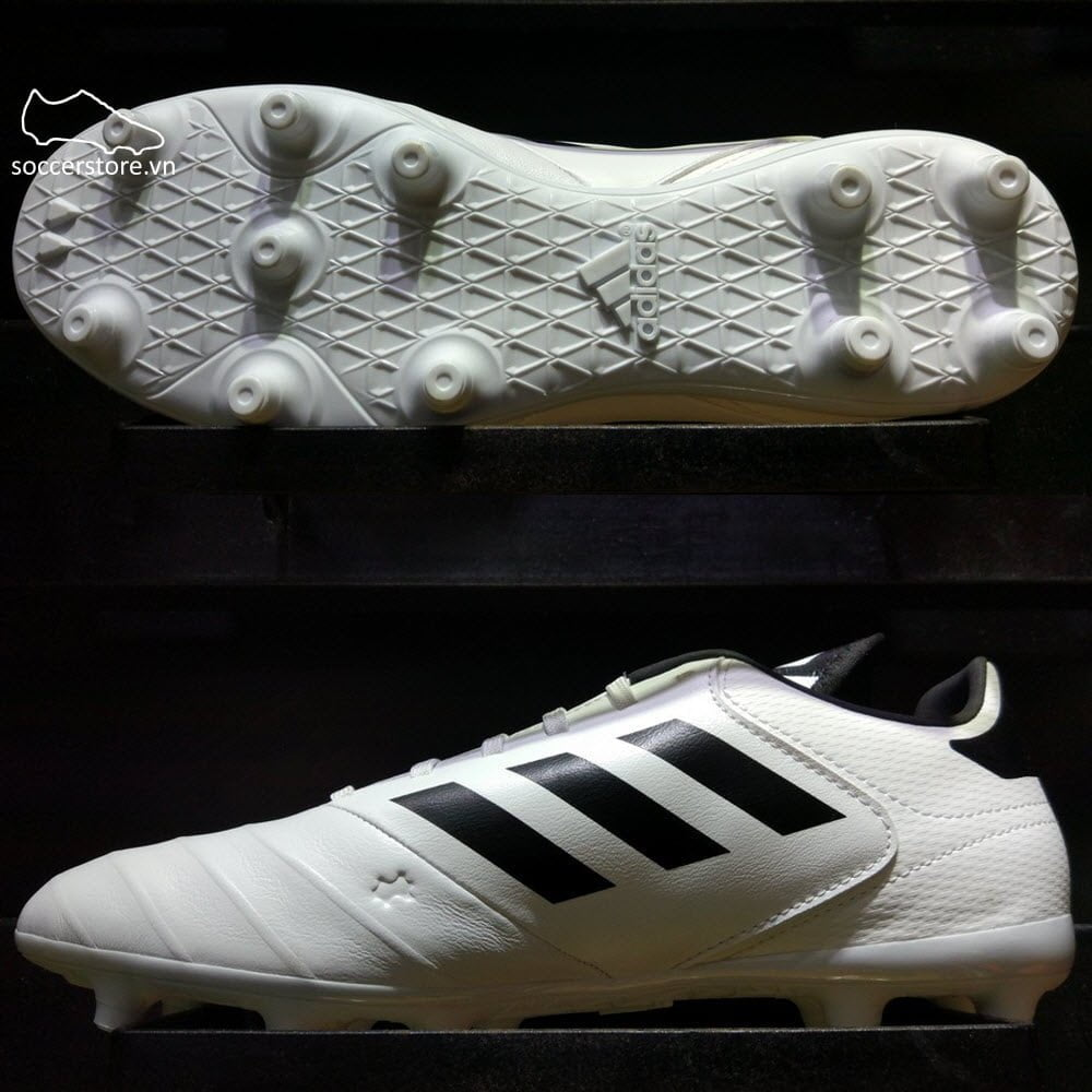 Adidas Copa 18.3 FG- White/ Core Black/ Tactile Gold Metallic BB6358