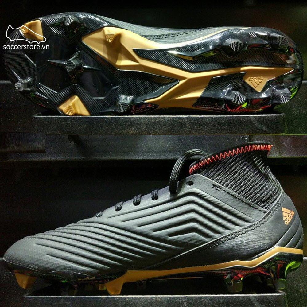 Adidas Predator 18.3 FG- Core Black/ White/ Solar Red CP9301