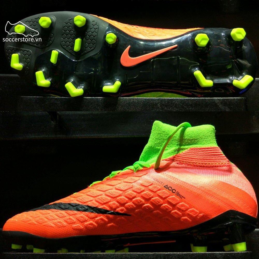 buy popular ba41b 2c8a9 Nike Hypervenom Phantom III DF Kids FG- Electric Green ...
