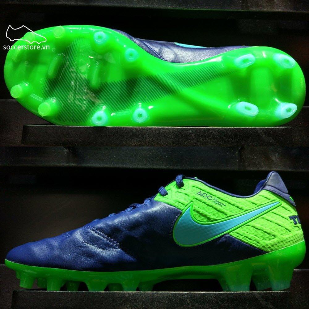 Nike Tiempo Legend VI FG- Coastal Blue/ Polarized Blue/ Rage Green 819177-443