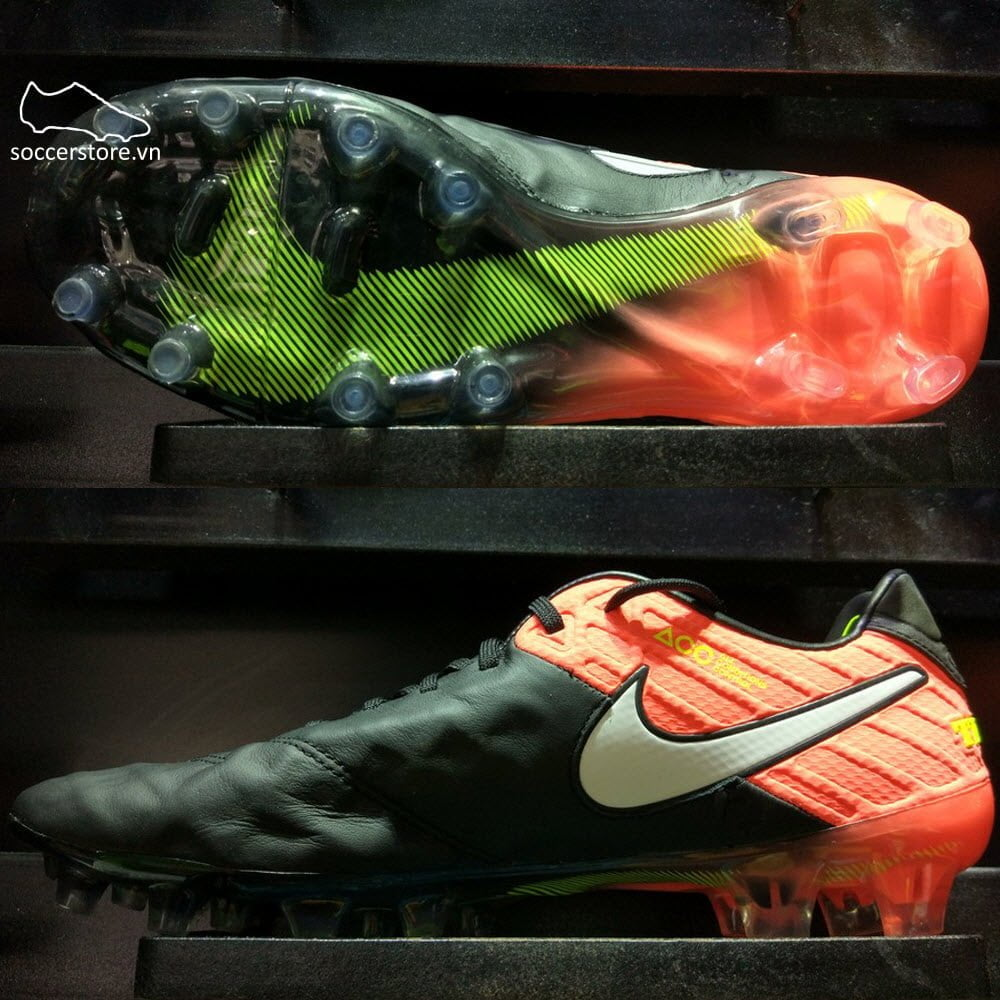 Nike Tiempo Legend VI FG- Black/ White/ Hyper Orange/ Volt 819177-018