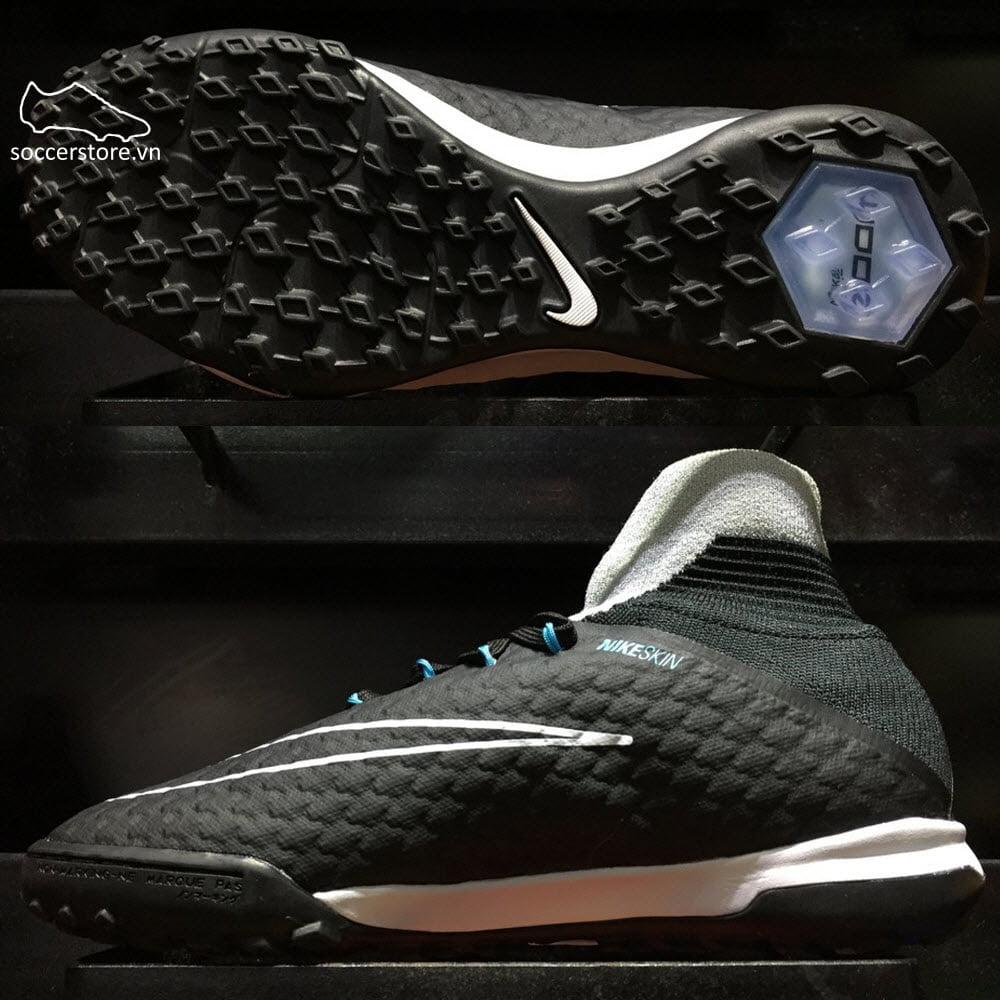 Nike HypervenomX Proximo II DF Kids TF- Wolf Grey/ Black/ Chlorine 852601-004