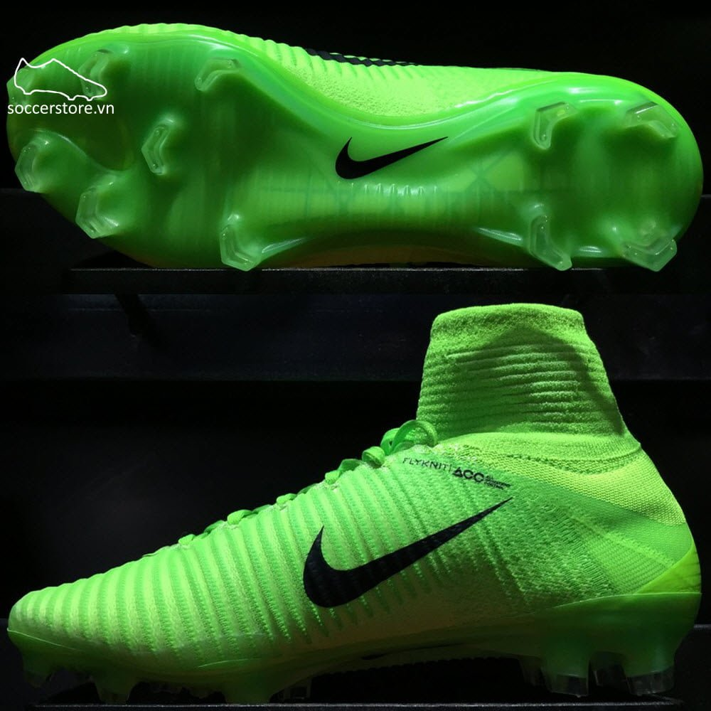 Nike Mercurial Superfly V FG- Electric Green/ Black/ Ghost Green 831940-305