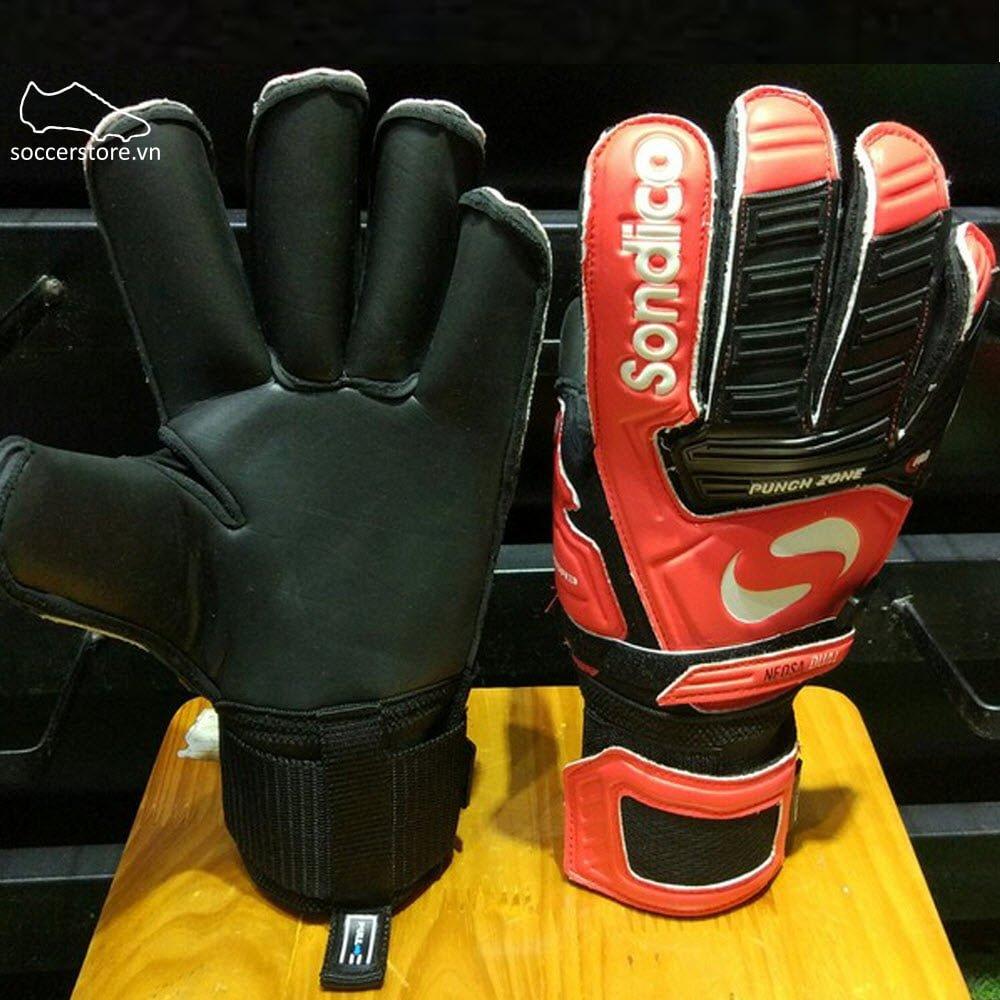 găng tay thủ môn Sondico Neosa Dual- Black/ Red GK Gloves