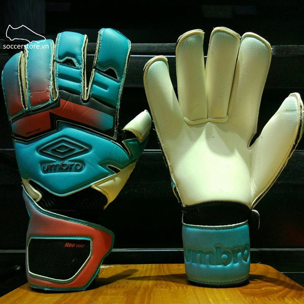 Găng tay thủ môn Umbro Neo Valor- Blue Bird/ Grenadine/ Black GK Gloves 20738U-EDV