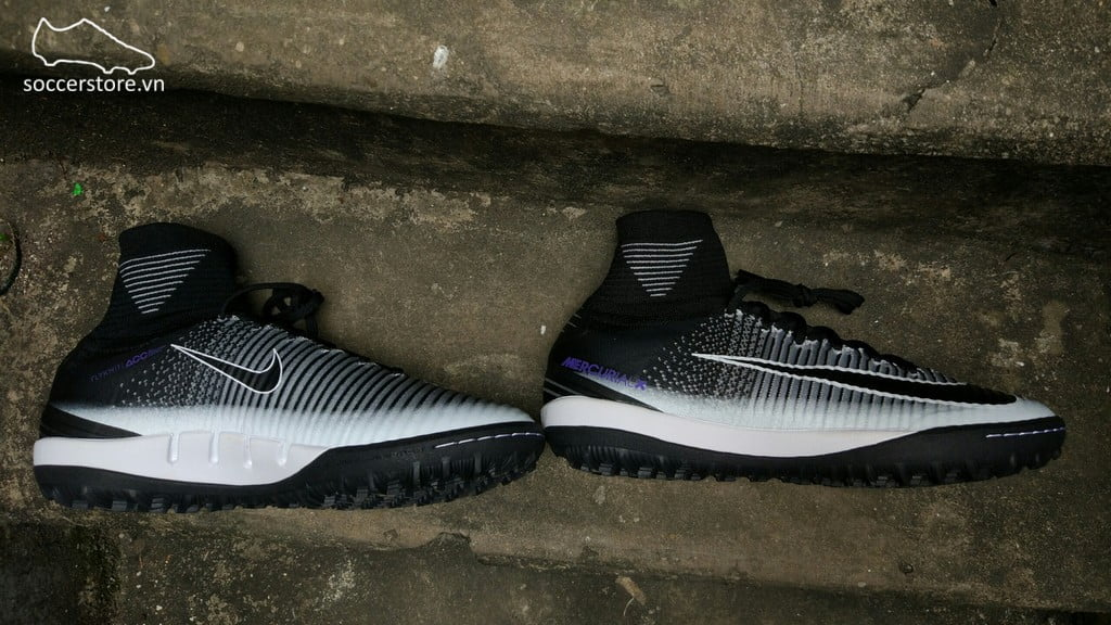 Nike MercurialX Proximo II DF TF- Black/ Hyper Grape/ Wolf Grey 831977-005
