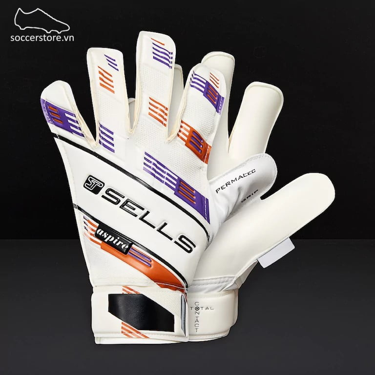 Sells Total Contact Aspire Junior- White GK Gloves