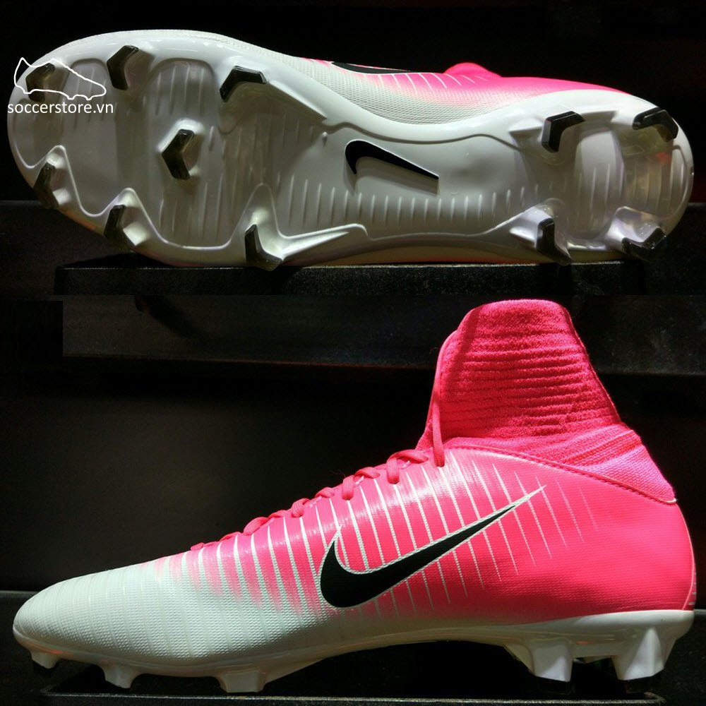 Nike Mercurial Superfly V Kids FG- Race Pink/ Black/ White 831943-601