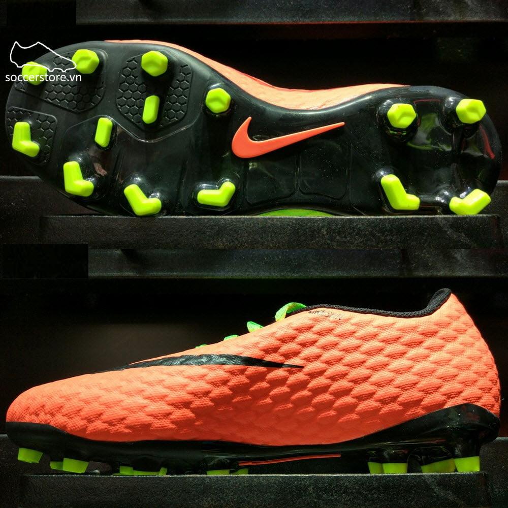 Nike Hypervenom Phelon III Kids FG- Electric Green/ Black/ Hyper Orange 852595-308