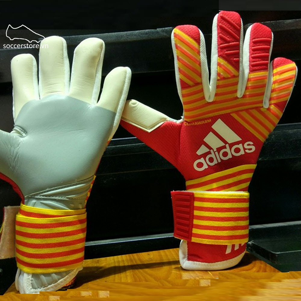 Adidas Ace Transition Climawarm- Scarlet/ Energy/ Yellow/ White GK Gloves BS4107