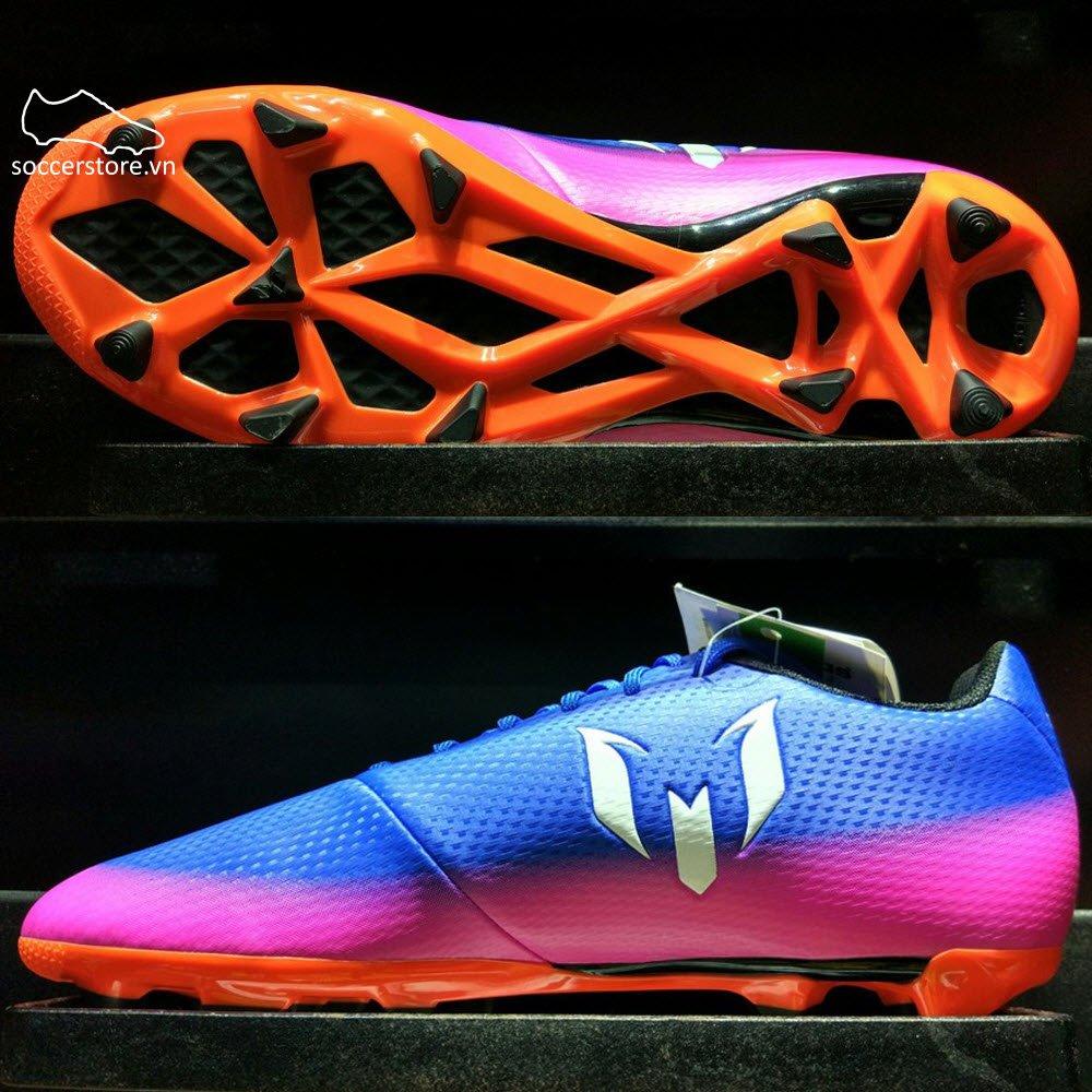 Adidas Messi 16.3 Kids FG/AG- Blue/ White/ Solar Orange BA9147