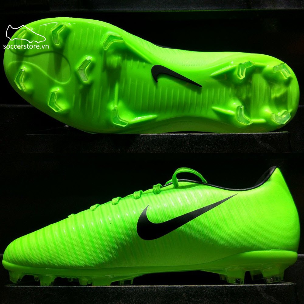 Nike Mercurial Victory VI Kids FG- Electric Green/ Black/ Flash Lime 831945-303