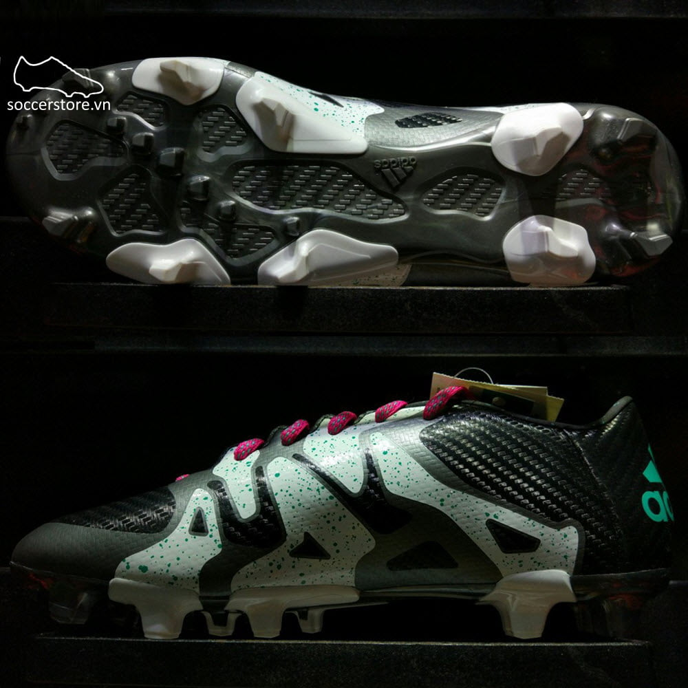 Adidas X 15.3 FG/AG- Core Black/ Shock Mint/ White S78178