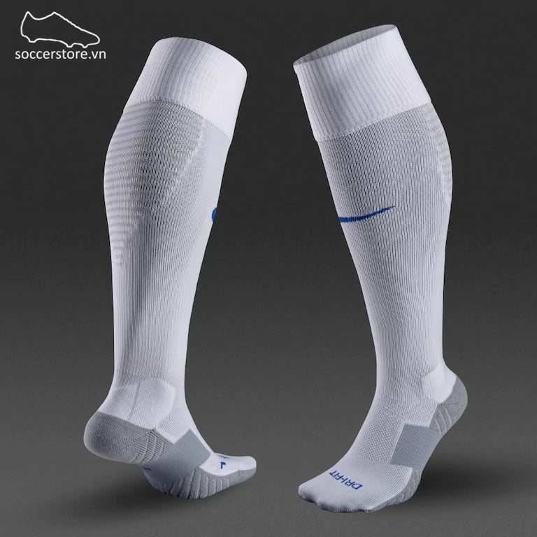Tất Nike Team Matchfit Core OTC- White/ Jetstream/ Royal Blue 800265-101
