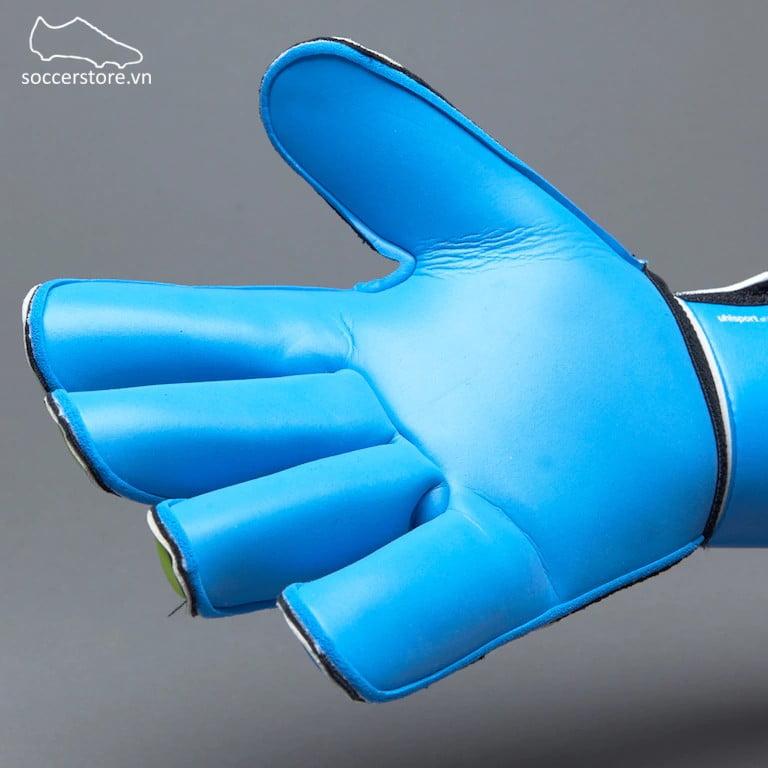Uhlsport Eliminator Soft RF Comp Junior- Black/ Blue/ Power Green GK Gloves 100017601J