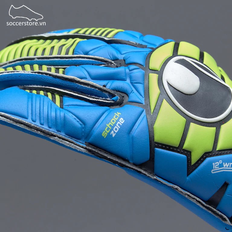 Uhlsport Eliminator Soft RF Comp Junior- Black/ Blue/ Power Green GK Gloves 100017601J