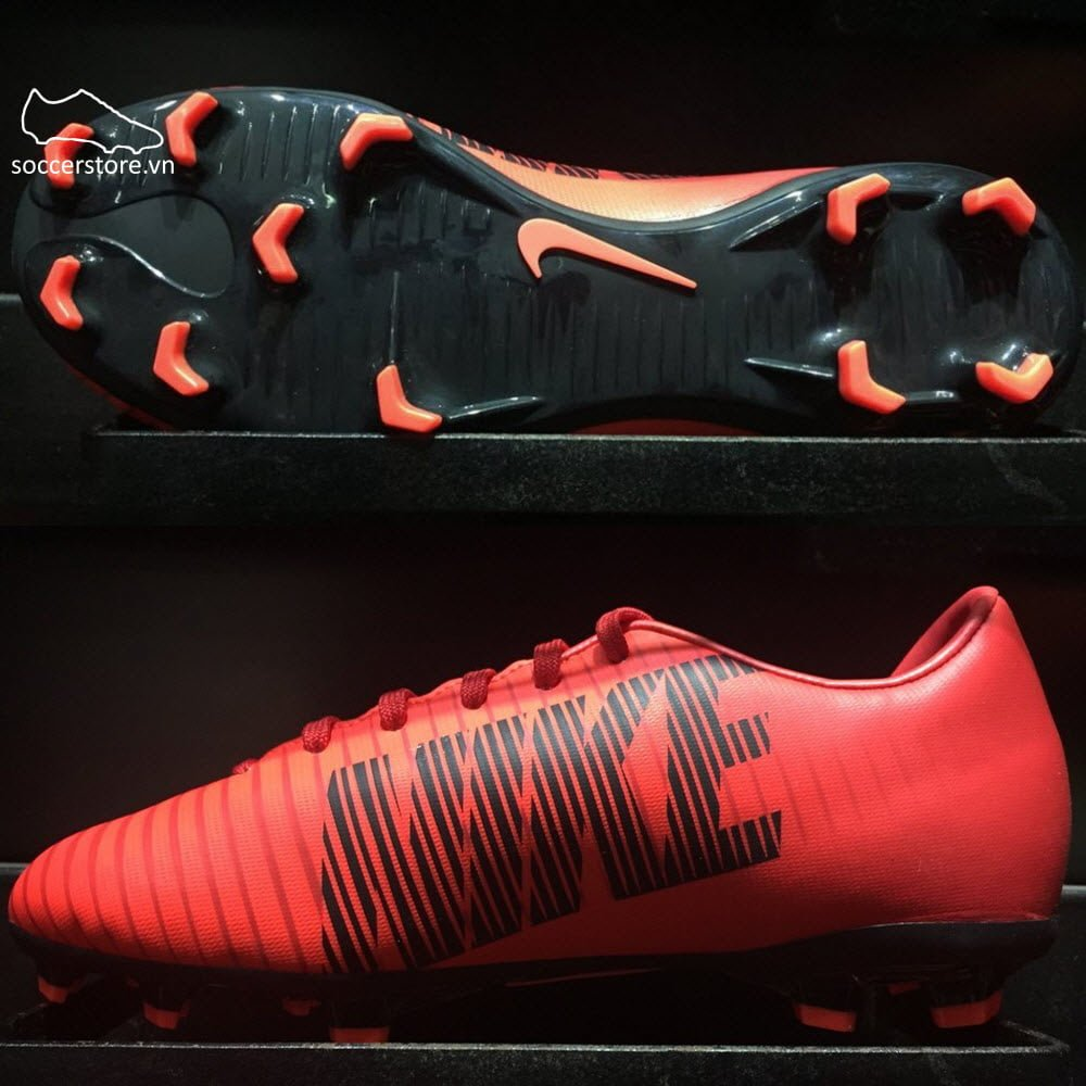 73694aad2098 Nike Mercurial Vapor XI Kids FG- University Red/ Black/ Bright Crimson  831945-616
