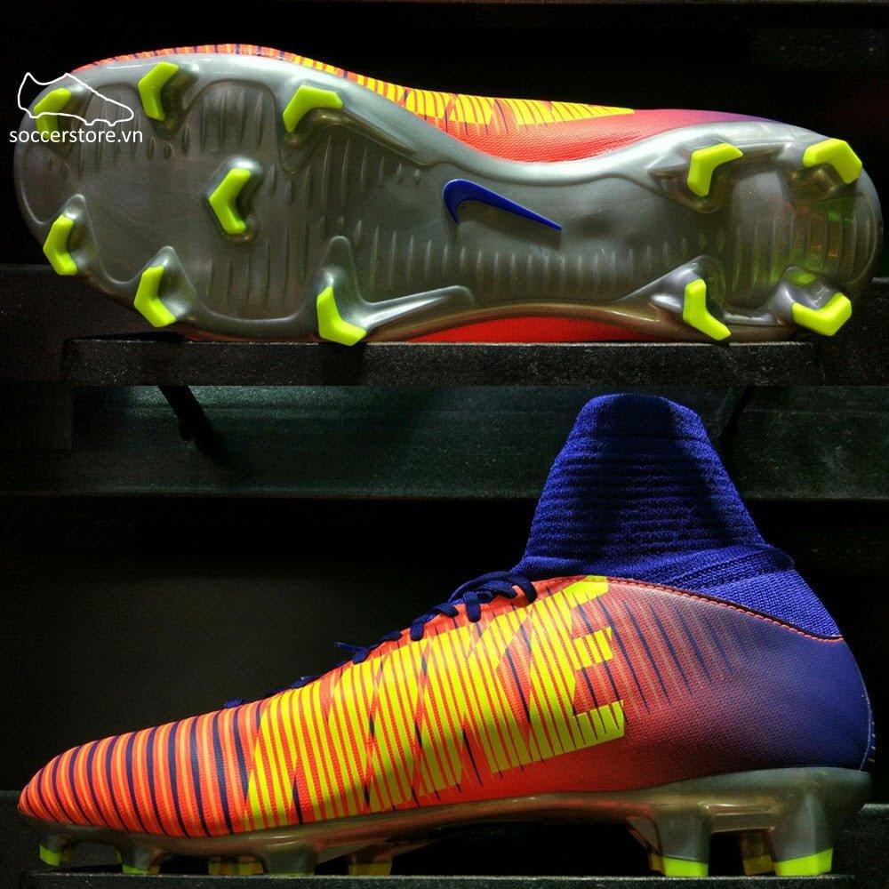 Nike Mercurial Superfly V FG Kids- Deep Royal Blue/Chrome/Total Crimson 831943-409