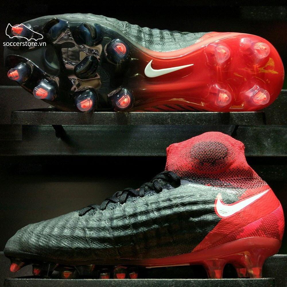 Nike Magista Obra II FG Kids- Black/White/Hyper Crimson/Bright Crimson 844410-061