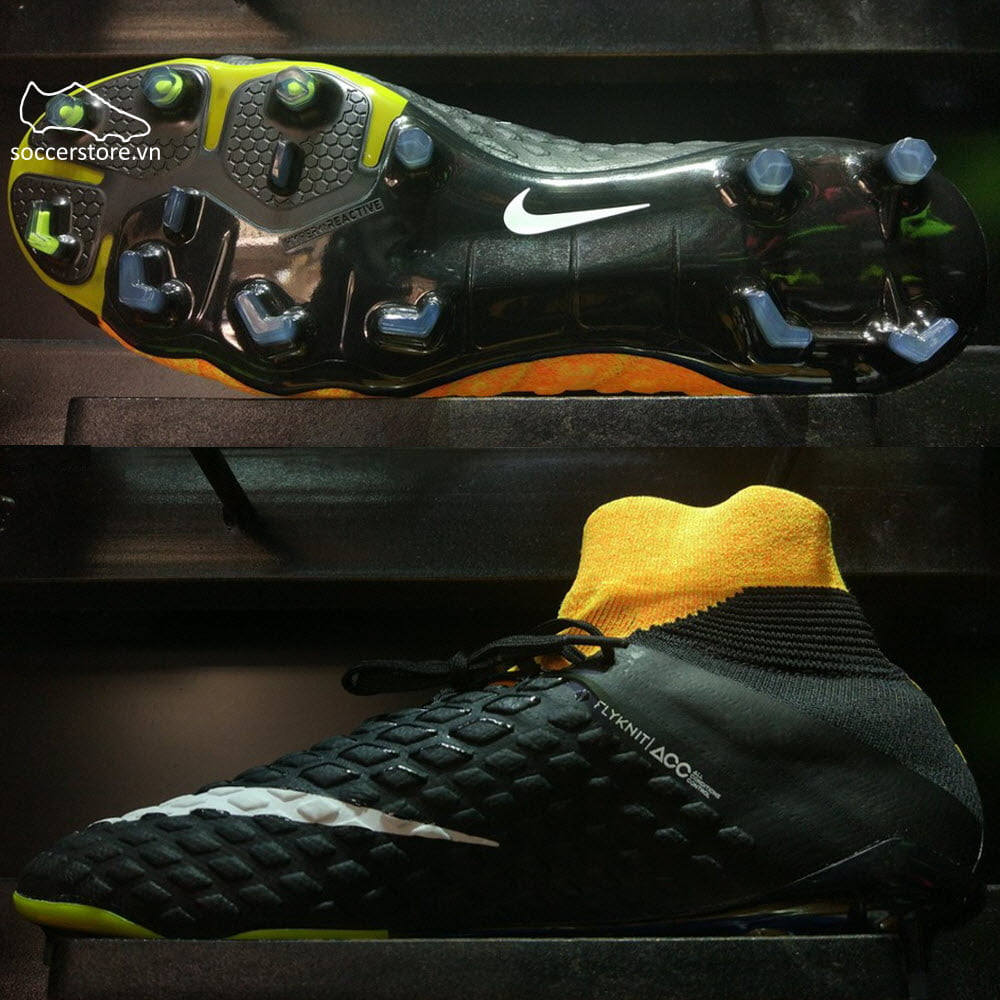 Nike Hypervenom Phantom III FG- Black/ White /Laser Orange/ Volt 860643-801