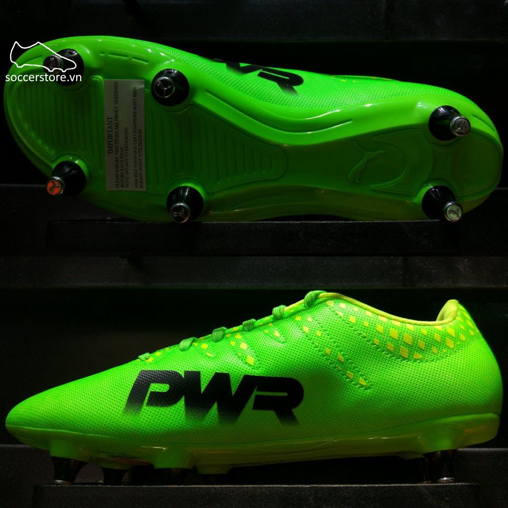 Puma evoPOWER 4 SG- Green Gecko/ Puma Black/ Safety Yellow 103962-01