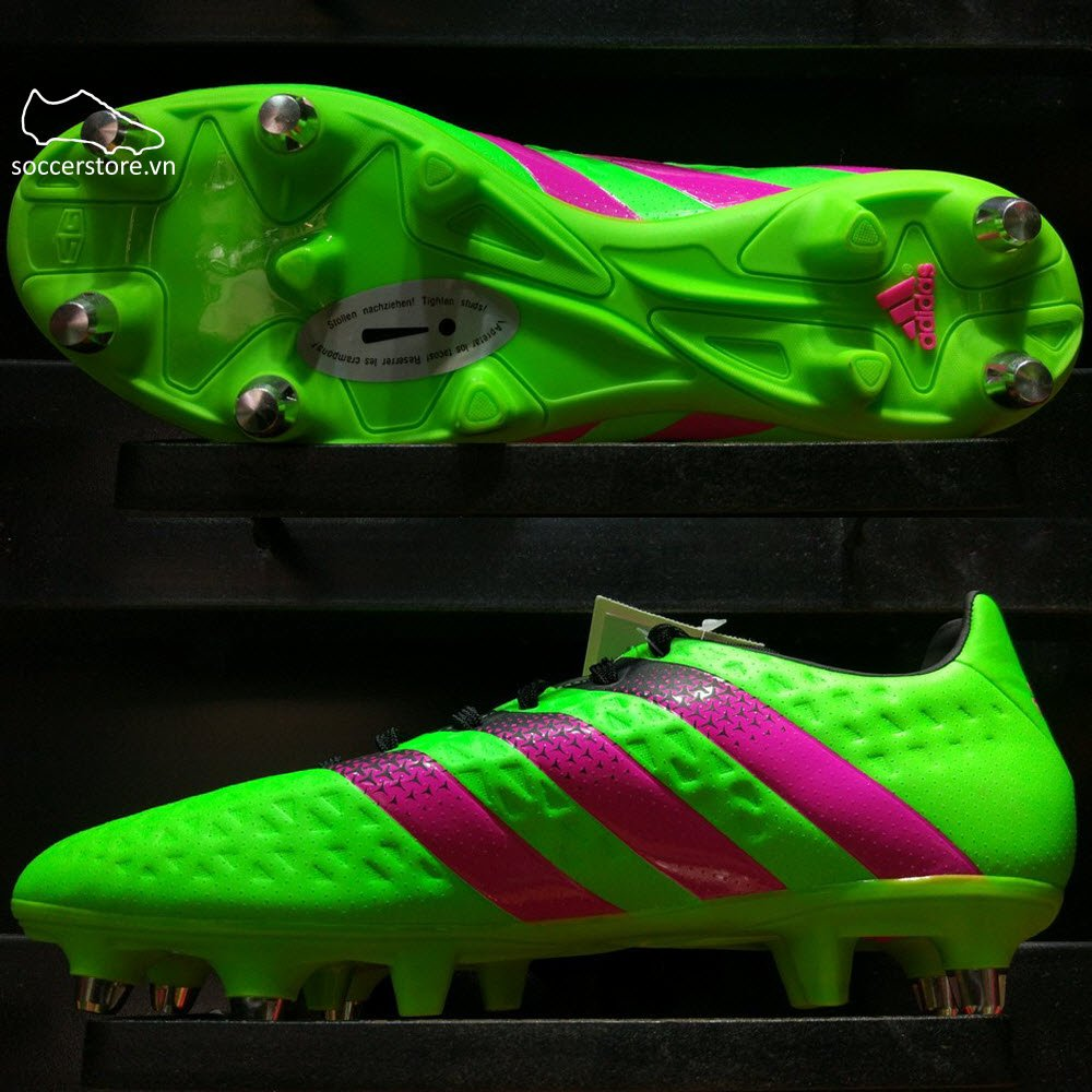 Adidas Ace 16.3 SG- Solar Green/ Shock Pink/ Core Black S75734