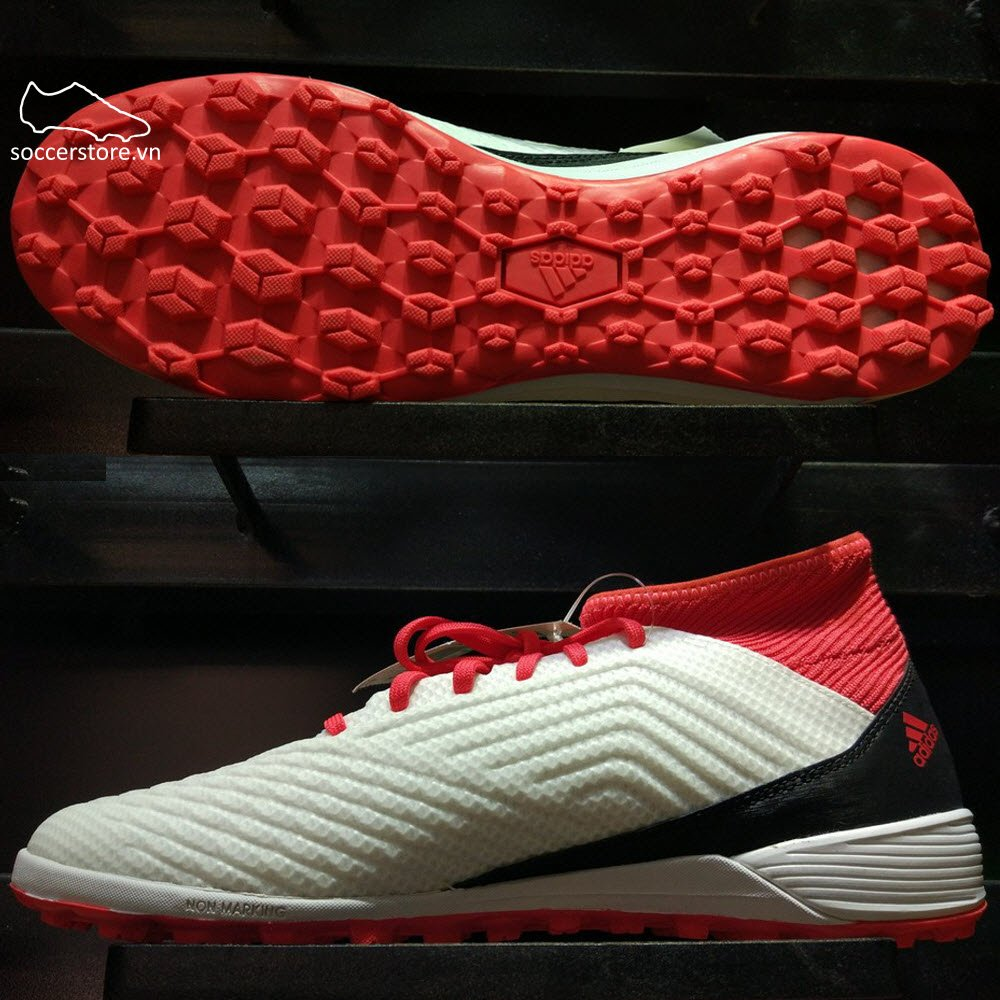 Adidas Predator Tango 18.3 TF- White/ Core Black/ Real Coral CP9930
