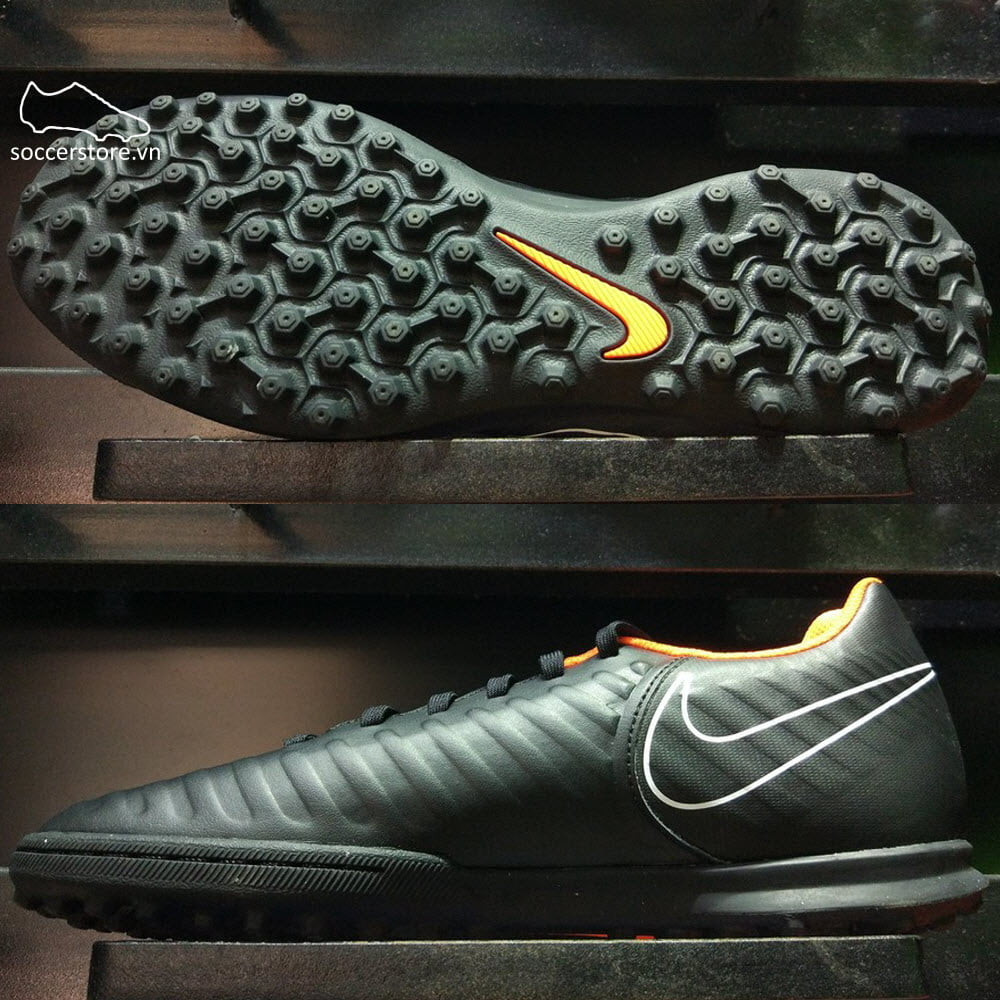 Nike Tiempo Legend VII Club TF- Black/ Total Orange/ White AH7248-080